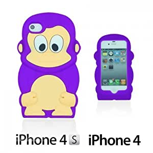 Monkey Style 3D Silicon For LG G3 Case CoverPurple