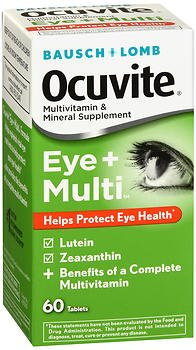 B&L Ocuvite Eye + Multi Size 60ct Pack of 3 For Sale