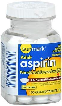 Aspirin 325 Mg Tab - Sunmark Aspirin 325 mg Tablets - 100 ct