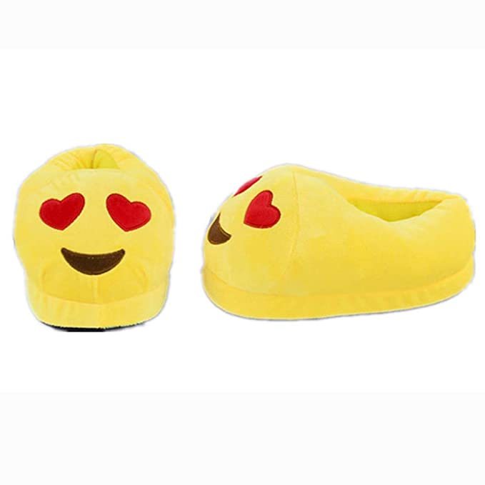7ebc00b4b25d Unisex Emoji Home Slippers Cute Cartoon Kids Teens Women Girl Plush Slipper  Cry