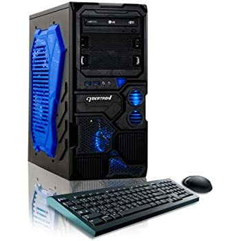 CybertronPC Borg-Q Gaming Desktop - AMD FX-4300 3.8GHz Quad-Core, NVIDIA GeForce GT 710, 8GB DDR3 Memory, 1TB HDD, DVD±RW, Microsoft Windows 10 Home 64-bit