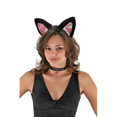 elope Kitty Cat Costume Ears Headband, Collar, Tail Set for Women