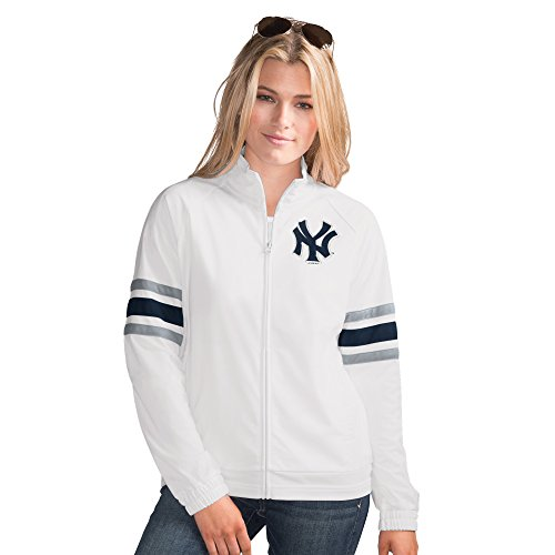 New York Yankees MLB Women's G-III Sports GAME SCORE Full Zip Track Jacket (LARGE)