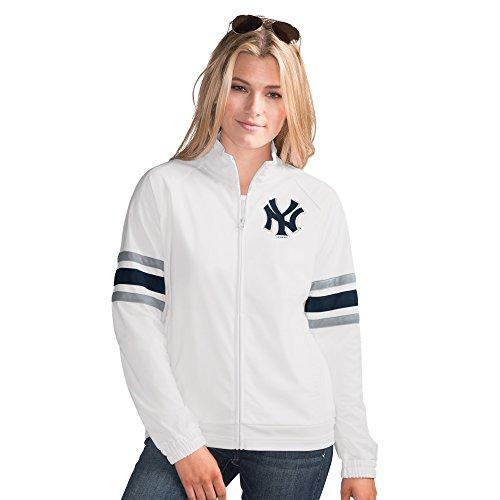 New York Yankees MLB Women's G-III Sports GAME SCORE Full Zip Track Jacket (MED)