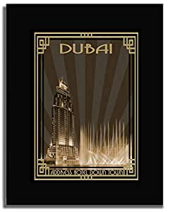 Address Hotel Down Town- Sepia With Gold Border F04-m (a2) - Framed