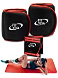 Fit Viva Ankle Weights Set - Wrist Weights for Women and Men (1, 2, 3 lbs) - Perfect for Weight Lifting, Core & Leg Training or Cardio - Great GlFT (2 x 1 lb)