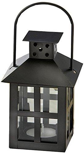 Luminous Black Mini-Lantern Tea Light Holder - Total 24 sets (Luminous Lanterns Mini)