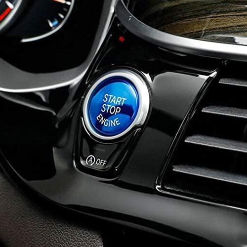 Für F Serie 1 2 3 4 5 6 7 Serie X1 X3 X4 X5 X6 F20 F21 F30 F31 F10 F11 F01 Auto Motor Start Stopp Tasten Abdeckung Abs 1 Stück Blau Auto