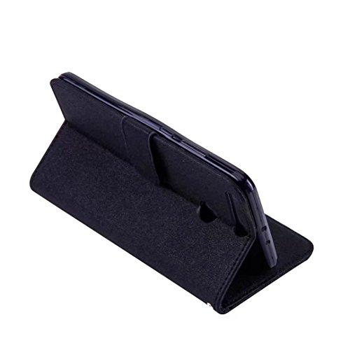 COWX Huawei Honor V9 Hülle Kunstleder Tasche Flip im Bookstyle Klapphülle mit Weiche Silikon Handyhalter PU Lederhülle für Huawei Honor V9 Tasche Brieftasche Schutzhülle für Huawei Honor V9 schutzhüll