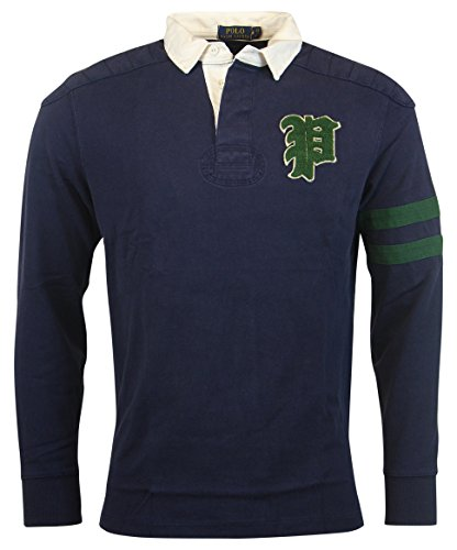 Polo Ralph Lauren Men's Custom Fit Gothic 'P' Rugby, French Navy, S