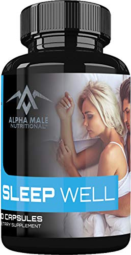 Sleep Well Natural Sleep Aid with Valerian Root, Tryptophan & Melatonin - Sleep Well & Wake Refreshed - Non Habit Forming Sleeping Pills - Also Includes Chamomile, GABA, Hops, Lemon Balm 60 Capsules