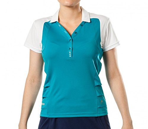 Head - Valentina Button Mujer Tenis Polo, color azul, tamaño small ...