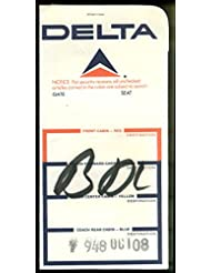 Delta Air Lines airline ticket wrapper flown JFK-BDL 1973 w/ticket