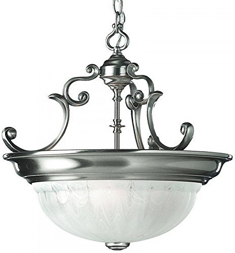 Dolan Designs Satin Pendant - Dolan Designs 527-09 Richland 3 Light Pendant, Satin Nickel