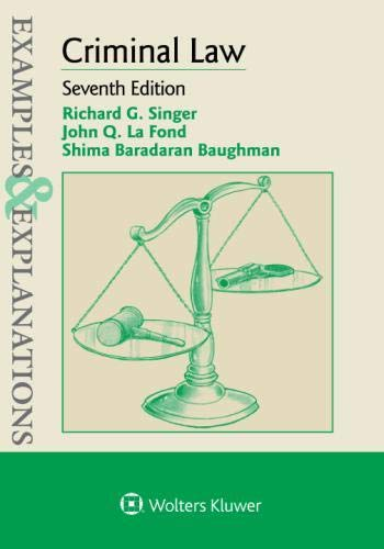 Examples & Explanations for Criminal Law by Wolters Kluwer