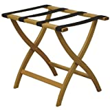 Luggage Pros Designer Luggage Rack with Brown Webbing