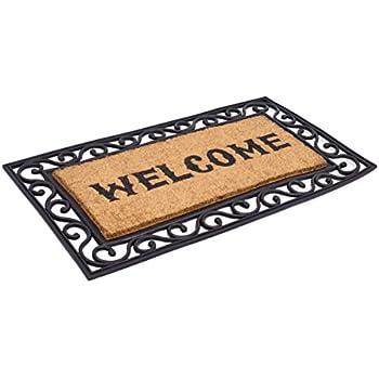 Amazon Com Birdrock Home Classic Welcome Brush Coir