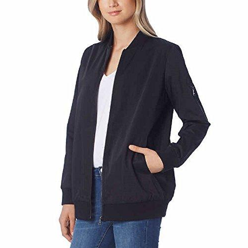 Bernardo Ladies' Bomber Jacket, Black (S) by Bernardo