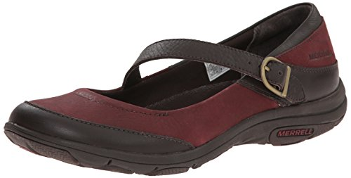 Merrell Women's Dassie MJ Slip-On Shoe, Deep Red/Espresso, 9