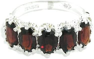 925 Sterling Silver Real Genuine Mesa Mall Discount is also underway Eternity Womens Ring Garnet