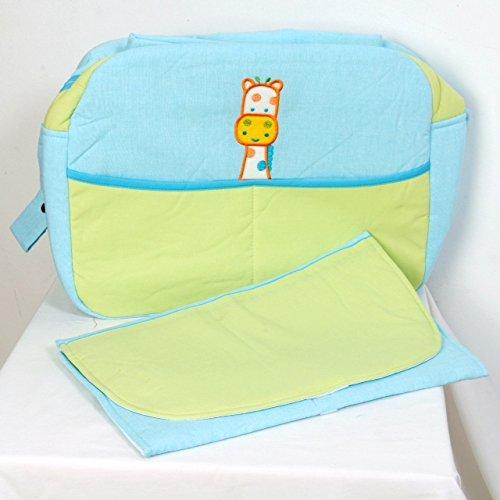 Bolso con cambiador para bebés para silla de paseo con broches adaptables. De regalo biberón