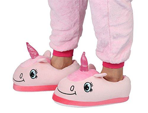 Cornes Hiver Ciel Chaussures des Peuvent en Peluche Douce être Chaussures Antidérapantes Les Arc Rose Chaussures Chaussures Les en pour Femmes et Hommes avec Licorne Adultes xWqUXw1a