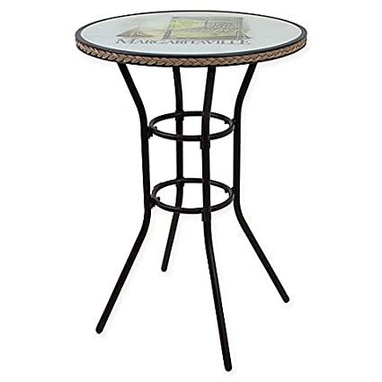 Amazoncom Margaritaville Bar Height Bistro Table In Lime Garden