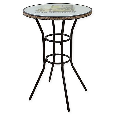 Margaritaville Bar Height Bistro Table in Lime