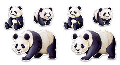 (Beistle 54809 panda cutouts Multi-colored)