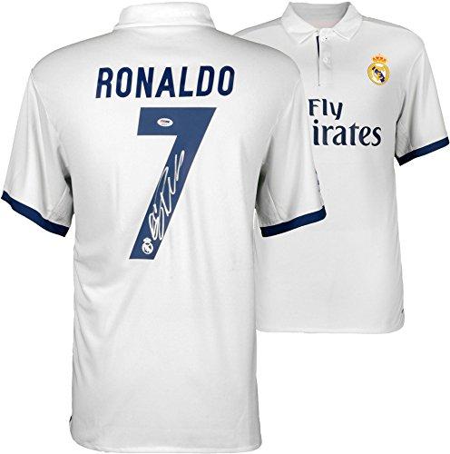 Cristiano Ronaldo Real Madrid Autographed 2016-17 Home Je...