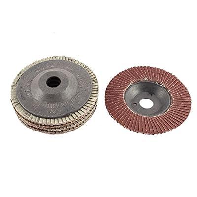 "uxcell 4"" x 5/8"" 320 Grit Flap Sanding Discs Polish Grinding Wheel 5pcs"