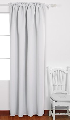french door panel curtains black - 9