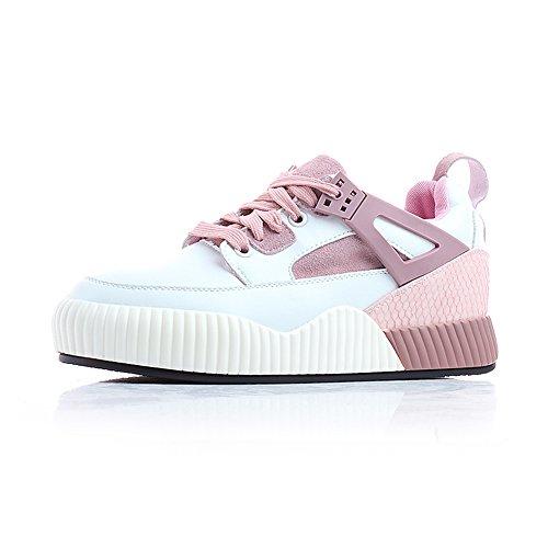 FUFU Frauen Turnschuhe Frühling Sommer Herbst Winter Komfort PU Outdoor Sportlich Casual Low Heel Weiß für 18-40 Jahre alt Pink