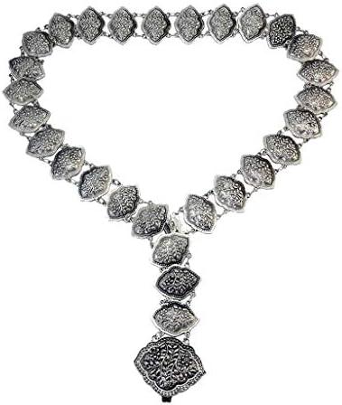 F Fityle Dames strand met gravure van metalen taille lichaamsketting buikketting bikini boho riem sieraden