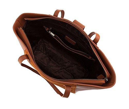 WITTCHEN Borsa elegante, Rosso Mattone - Dimensione: 30x40cm - Materiale: Pelle di grano -Accomoda A4: Si - 85-4E-200-5