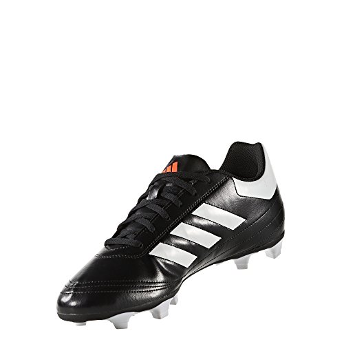 Black Firm Ground (adidas Men's Goletto VI Firm Ground Soccer Shoe, Black/White/Solar Red, 8.5 M US)