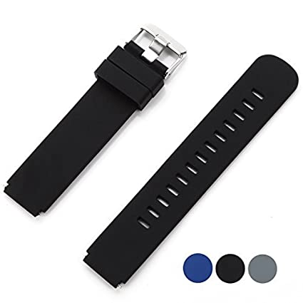 VIMVIP Sports Silicone Watch Band for Moto 360 Smart Watches (Black)