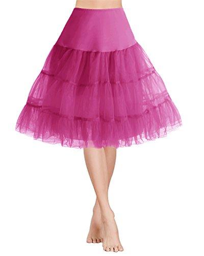 Ginocchio Gonne Mini Sottogonne Vintage Gardenwed Retro Donna Al Rockabilly Rose Petticoats Annata 1950s COHXSq