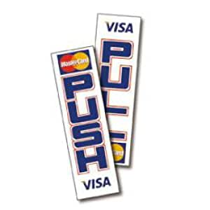 Visa mastercard pull decal sticker office for Amazon gelbsticker