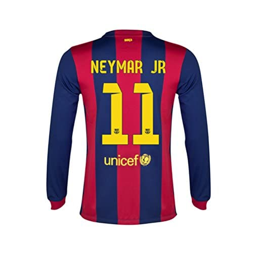 807bc2bf0 85%OFF NEYMAR  11 Nike FC Barcelona Home Men Jersey 2014-2015 Long ...