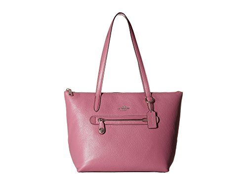 COACH Women's Taylor Tote in Pebbled Leather Sv/Primrose One Size