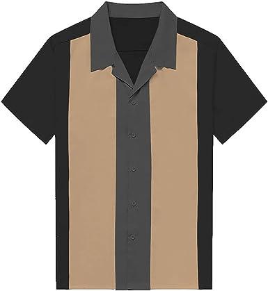 N\P Camisa de rayas verticales camisa camisa de algodón a ...