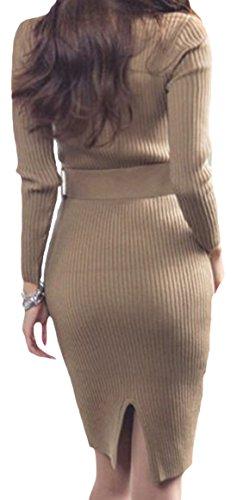 erdbeerloft - Vestido - Opaco - para mujer marrón