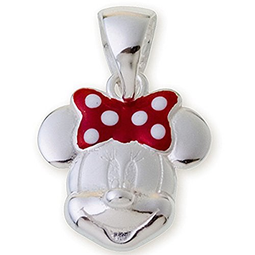 Disney Minnie Mouse Sterling Silver Enamel Charm Pendant Jewelry