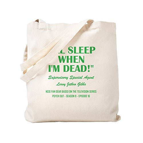 CafePress I'll SLEEP WHEN I'm DEAD! Natural Canvas Tote Bag, Cloth Shopping Bag