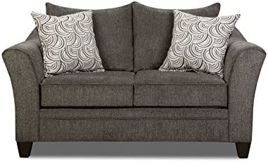 Simmons Upholstery Albany Loveseat, Pewter
