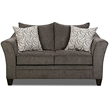 simmons albany pewter sofa. simmons upholstery 6485-02 albany pewter loveseat sofa