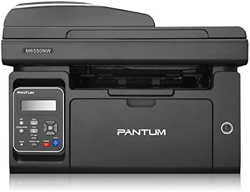 Pantum Compact Monochrome All-in-One Laser Printer Copier Scanner & ADF with Wireless Networking Ethernet Wi-Fi Direct (Laserjet M6550NW, Black)
