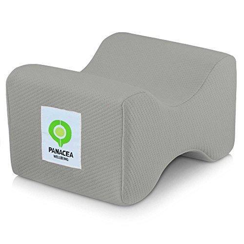 Price comparison product image Knee Pillow Replacement Cover - Fits Panacea Wellbeing Knee Pillow - OEKO-TEX Certified,  Hypoallergenic,  Machine Washable Case (REPLACEMENT COVER ONLY) (Grey)