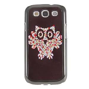 conseguir Patrón de los pétalos de Owl Espejo Liso nuevo caso duro con la película de alta definición de pantalla 3 piezas para Samsung Galaxy S3 I9300